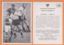 West Germany v Ireland Streitle Bayern Munich Posipal Hamburg Gibbons St Patricks Athletic Fitzsimons Middlesbrough A112 (B)